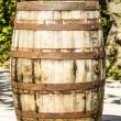 Stock Photo: Old wooden wine cask