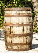 Old wooden wine cask — Stock Photo