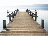 Old wooden jetty — Stock fotografie