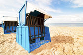 Hooded beach chair — Stock Photo