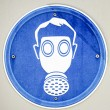 Gasmask sign — Stock Photo