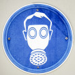 Stock Photo: Gasmask sign