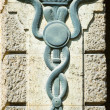 Stock Photo: Aesculapistaff - Caduceus