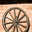 Stock Photo: Old wagon wheel