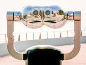 Coin operated binoculars — Stock Photo