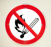 No open fire sign — Stock Photo