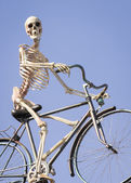 Cycling skeleton — Stock Photo