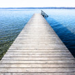 Foto Stock: Wooden jetty