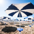 Stock Photo: Sunshades at beach