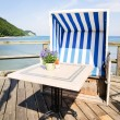 Royalty-Free Stock Photo: Hooded beach chair
