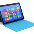 The tablet PC with a surface keyboard — Stock Photo