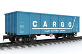 Blue rail wagon. — Stock Photo
