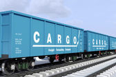 Freight forwarding services. Shipping in the wagons — Stock Photo