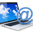 Laptop and E-mail symbol — Stock Photo