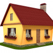 Model village house — Stock Photo