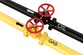 Natural gas and oil mains. Deliveries of resources. — Stock Photo