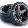 Slick wheels kit for race car — Stock Photo