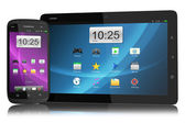 Modern smartphone and tablet PC with interface — Foto de Stock