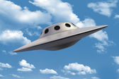 Unidentified Flying Object in sky — Stock Photo