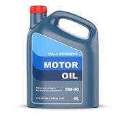 Motor oil plastic canister — Stock Photo