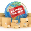 Express delivery worldwide. Concept — Stock Photo #40305421