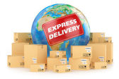 Express delivery worldwide. Concept — Stock Photo