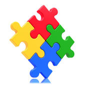 Puzzle concept isolated on white background — Stock Photo