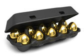 Set of golden eggs — Stock Photo
