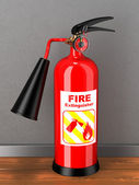 Extinguisher in room. Concept — Stock Photo
