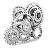 Cog gears mechanism concept. 3d — Stock Photo