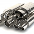 Set of exhaust pipes — Stock Photo #51128763