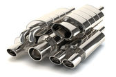 Set of exhaust pipes — Stock Photo
