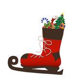 Santas boot — Stock Photo