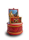Christmas music box — Stock Photo