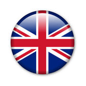United Kingdom - glossy button with flag — Stock Photo
