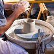 potters wheel — Stock Photo