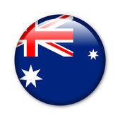 Australia - glossy button with flag — Stock Photo