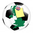 Soccer memo - UK — Stock Photo