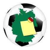 Soccer memo - Germany — Stock Photo