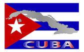 Cuba map — Stock Photo