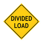 Fun road sign - Divided Load — Stock Photo