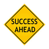 Fun road sign - Success Ahead — Stock Photo