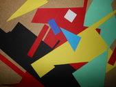 The texture of scraps of color paper — Stock Photo