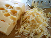 Cheese coarsely grated — Stock Photo