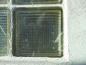 Rough finish the window of the glass blocks — Stock Photo