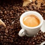 Hot espresso cup — Stock Photo