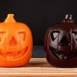 Two Pumpkin chocolate halloween — Stock Photo