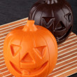 Stock Photo: Two Pumpkin chocolate halloween