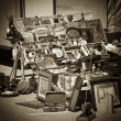 Stock Photo: flea market with seppia effect