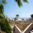 Santorini windmill - Stock Photo